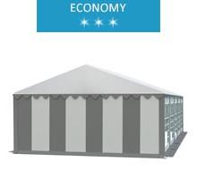 Namiot imprezowy 5x10m, PCV biało-szary, economy