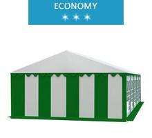 Namiot imprezowy 5x10m, PCV biało-zielony, economy