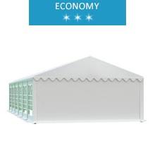 Party tent 5x12 m, white PVC, economy
