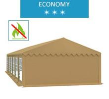 Namiot imprezowy 6x12m, PCV beżowy, economy, trudnopalny