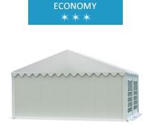 Namiot imprezowy 5x4m, PCV biały, economy