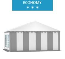 Namiot imprezowy 5x4m, PCV biało-szary, economy