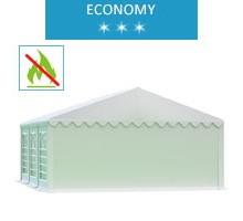 Party tent 5x6 m, white PVC, economy, fireproof