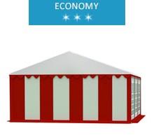 Namiot imprezowy 5x6m, PCV biało-czerwony, economy