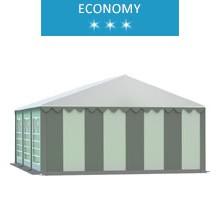 Namiot imprezowy 5x6m, PCV biało-szary, economy