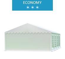 Namiot imprezowy 5x8m, PCV biały, economy