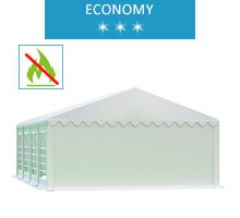 Party tent 5x8 m, white PVC, economy, fireproof