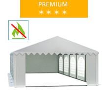 Namiot imprezowy 5x10m, PCV biały, premium, trudnopalny
