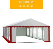 Namiot imprezowy 5x10m, PCV biało-czerwony, premium