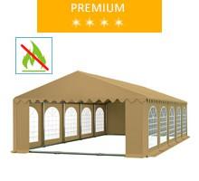 Namiot imprezowy 5x10m, PCV beżowy, premium, trudnopalny
