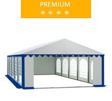 Namiot imprezowy 5x10m, PCV biało-niebieski, premium