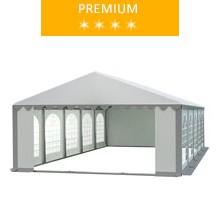 Namiot imprezowy 5x10m, PCV biało-szary, premium