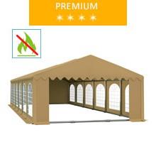 Namiot imprezowy 6x12m, PCV beżowy, premium, trudnopalny