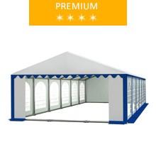 Party tent 5x12 m, white-blue PVC, premium