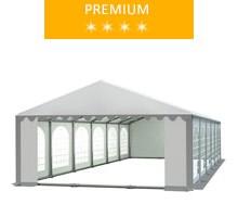 Namiot imprezowy 6x12m, PCV biało-szary, premium