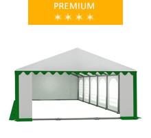 Party tent 6x12 m, white-green PVC, premium