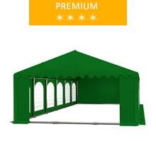 Party tent 6x12 m, green PVC, premium