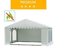 Namiot imprezowy 5x4m, PCV biały, premium, trudnopalny