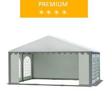 Namiot imprezowy 5x4m, PCV biało-szary, premium