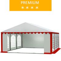 Namiot imprezowy 5x6m, PCV biało-czerwony, premium