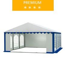 Namiot imprezowy 5x6m, PCV biało-niebieski, premium