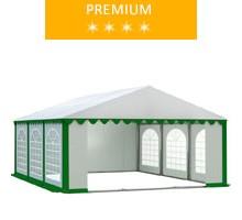 Namiot imprezowy 5x6m, PCV biało-zielony, premium