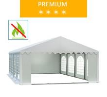 Namiot imprezowy 5x8m, PCV biały, premium, trudnopalny