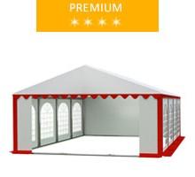Namiot imprezowy 5x8m, PCV biało-czerwony, premium