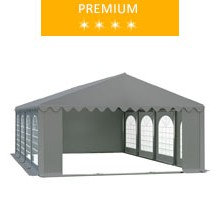 Namiot imprezowy 5x8m, PCV szary, premium