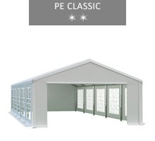 Party tent 5x10 m, white, PE classic