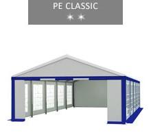 Namiot imprezowy 5x10m, biało-niebieski, PE classic