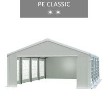 Party tent 5x8 m, white, PE classic
