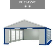 Namiot imprezowy 5x8m, biało-niebieski, PE classic