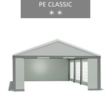 Party tent 5x8 m, white-gray, PE classic