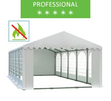 Party tent 5x10m, white PVC, professional, fireproof