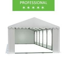 Party tent 6x12m, white PVC, professional