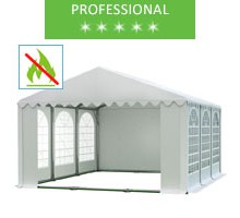 Party tent 5x6m, white PVC, professional, fireproof