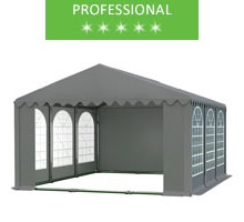 Party tent 5x6m, gray PVC, professional