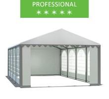 Party tent 6x8m, white-gray PVC, professional