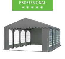 Party tent 6x8m, gray PVC, professional