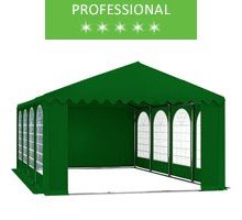 Party tent 6x8m, green PVC, professional