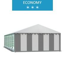 Namiot imprezowy 6x12m, PCV biało-szary, economy