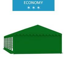 Party tent 6x12 m, green PVC, economy