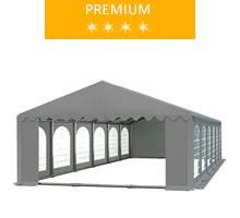 Party tent 6x12 m, gray PVC, premium