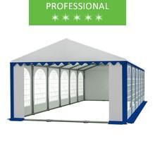 Party tent 6x12m, white-blue PVC, professional