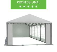 Party tent 6x12m, white-gray PVC, professional