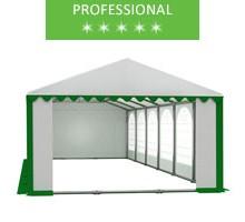 Party tent 6x12m, white-green PVC, professional
