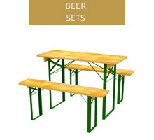 Beer set, 60 cm table + 2 benches - length 120 cm