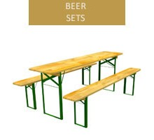 Beer set, 50 cm table + 2 benches
