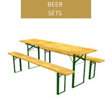 Beer set, 60 cm table + 2 benches